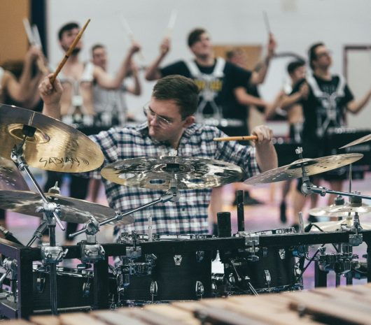 ConneXus Percussion playing cymbals