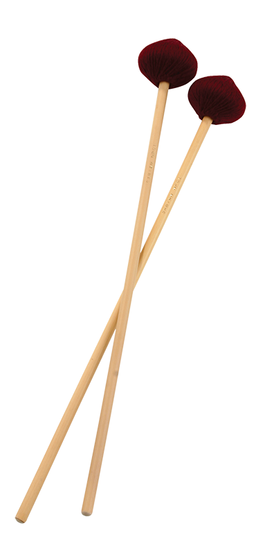 Hard Suspended Cymbal Mallets with Rattan Handles