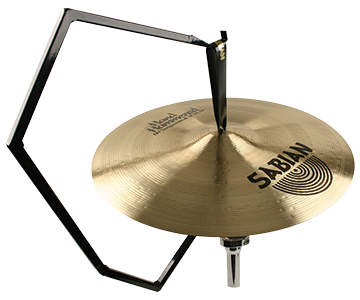 Orchestral Gooseneck Stand holding cymbals