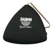 Black Zippered Triangle Bag