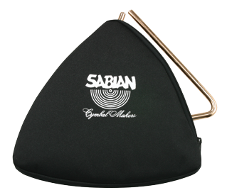 8″ Black Zippered Triangle Bag