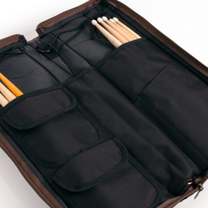Open Arena Bag holding sticks in both pockets
