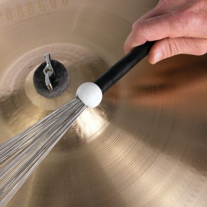 Beat brush over cymbal