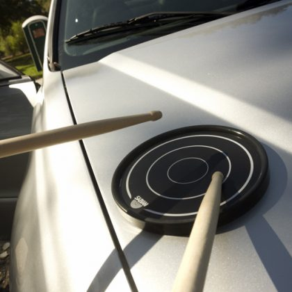 Grip disc being played on car