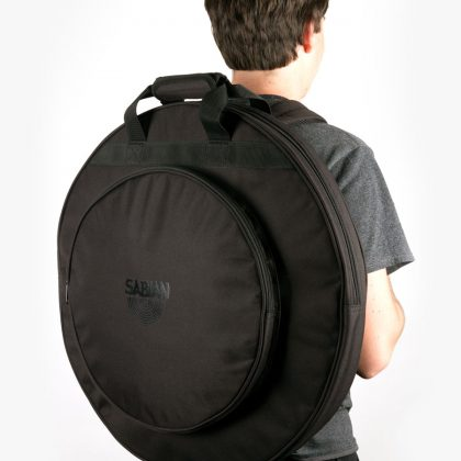 Person wearing Black Out Cymbal Bag as backpack