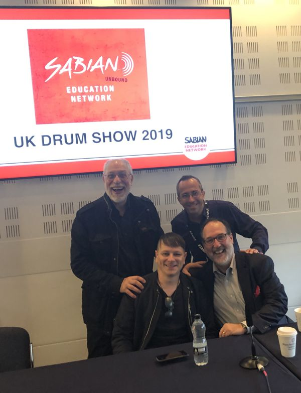 Andy Zildjian, Ray Luzier, Dom Famularo and Joe Bergamini at the UK Drum Show