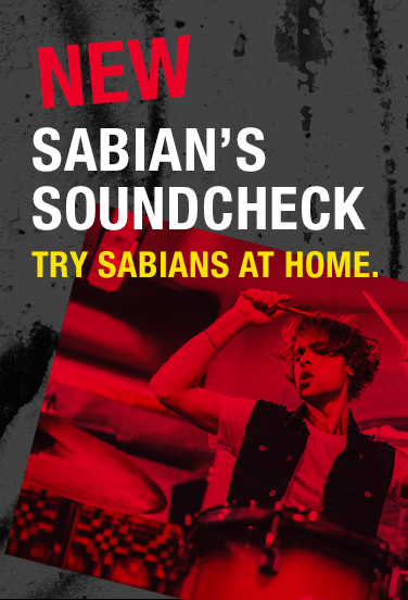 Sabian's Soundcheck. Try Mark Love collections at home.