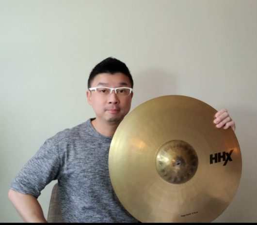 Alvin playing cymbals