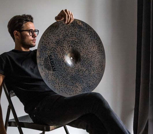 Ricky Quagliato playing cymbals