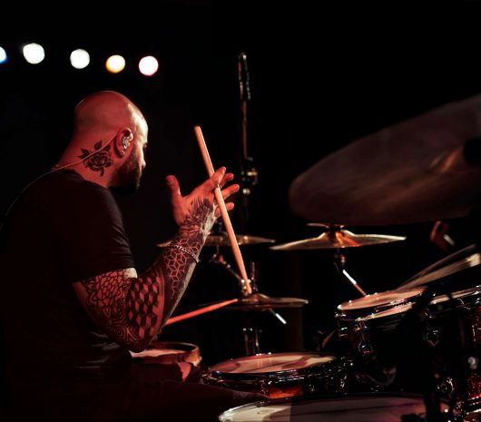 Lucas Allera playing cymbals