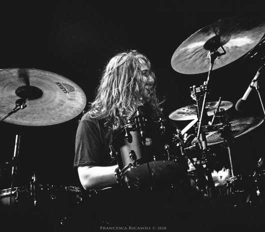Alessandro Inolti playing cymbals
