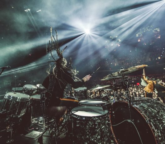 Barry Kerch playing cymbals