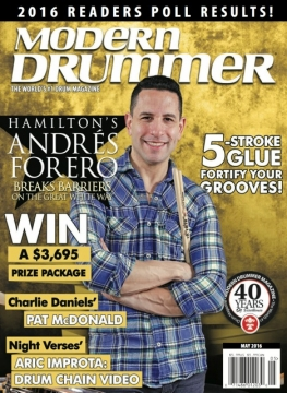 Andres Forero Featured In The May Issue Of Modern Drummer