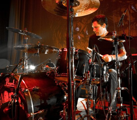 Aaron Solowoniuk playing cymbals
