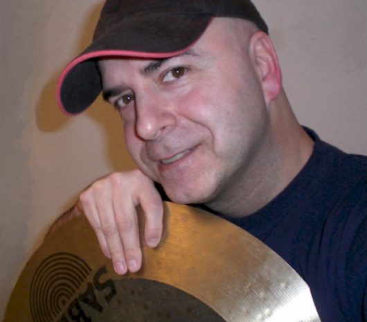 Alex Sanguinetti playing cymbals