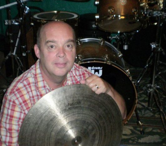 Allen Gentry playing cymbals
