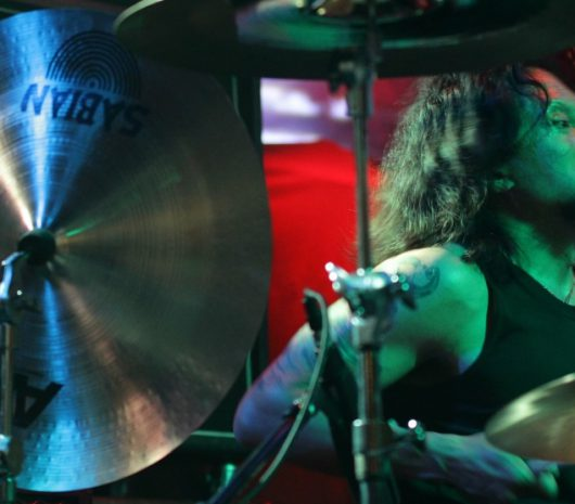 Andy V. Galeon playing cymbals