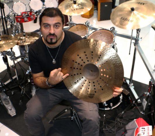 Aram Kalousdian playing cymbals