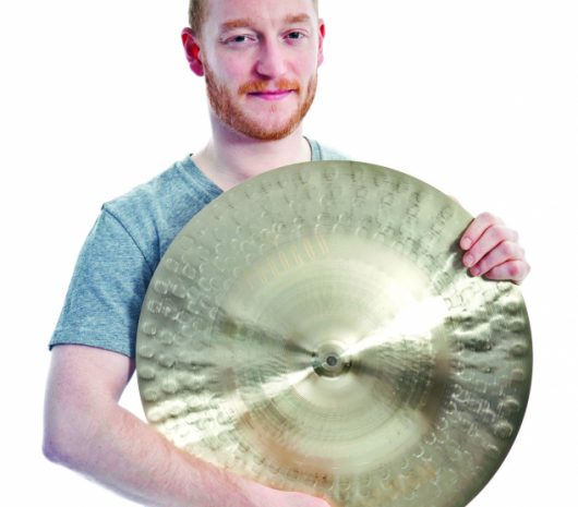 Ben Johnston playing cymbals