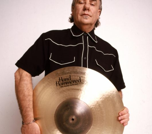 Bill Ward playing cymbals