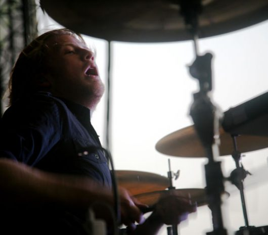 Bob Bryar playing cymbals
