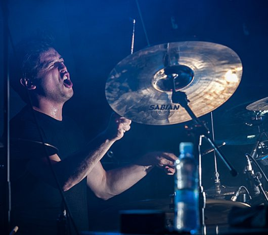 Bostjan Meglic playing cymbals