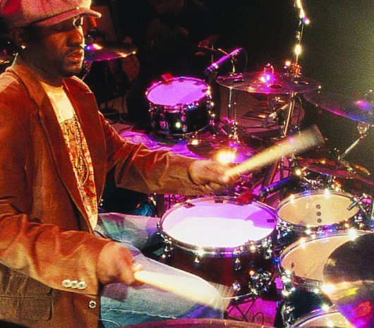 Brian Frasier-Moore playing cymbals