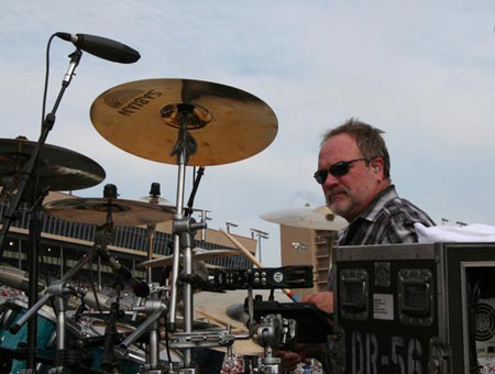 Brian Prout playing cymbals