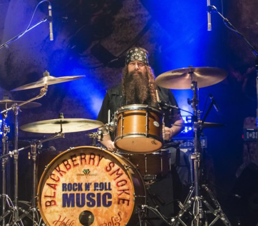 Brit Turner playing cymbals