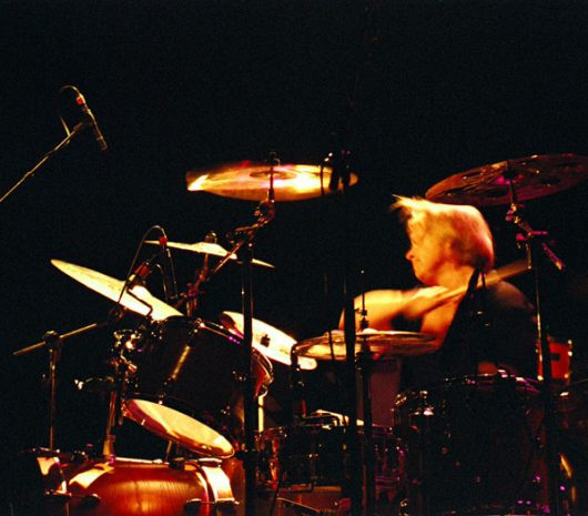 Bruno Meeus playing cymbals
