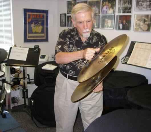 Cary Nasatir playing cymbals