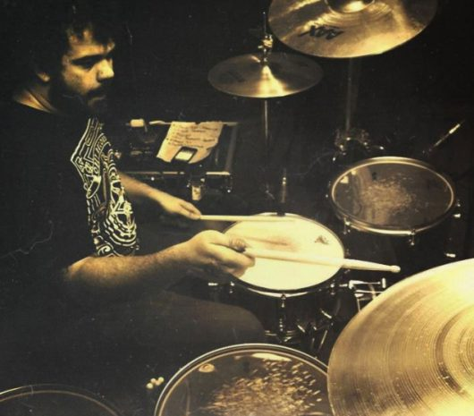 Chris Julian playing cymbals