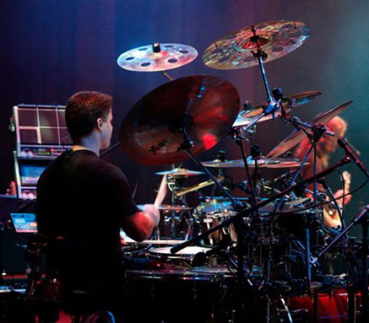 Dale Moon playing cymbals