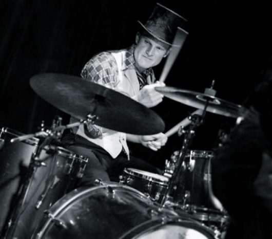 Darcy Macrae playing cymbals