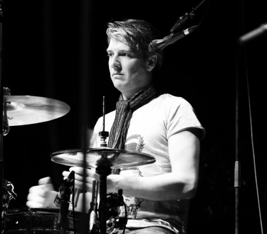 Dave Imby playing cymbals