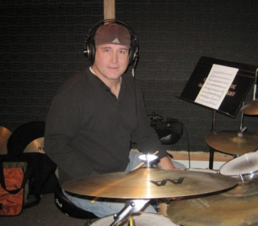 Dean Giles playing cymbals
