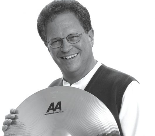 Dennis DeLucia playing cymbals
