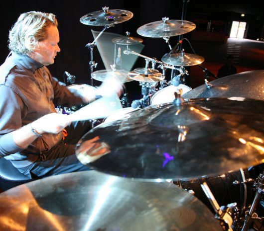 Dirk Brand playing cymbals
