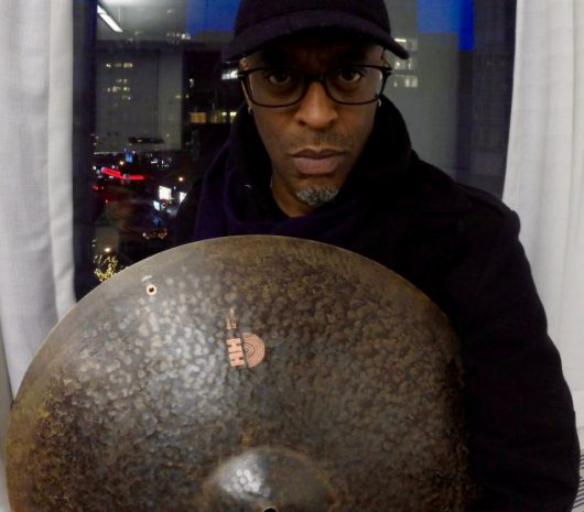 Donald Edwards playing cymbals
