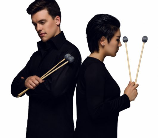 DoubleBeats playing cymbals