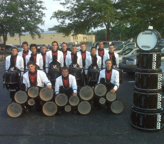 Dutch Boy Drum and Bugle Corps playing cymbals
