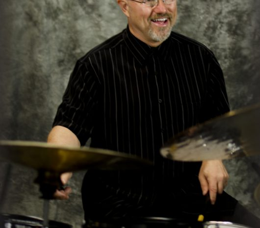 Edward Freytag playing cymbals