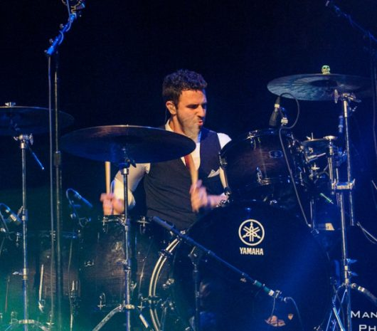 Elliot Jacobson playing cymbals