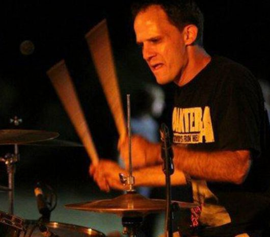 Eric Dodson playing cymbals