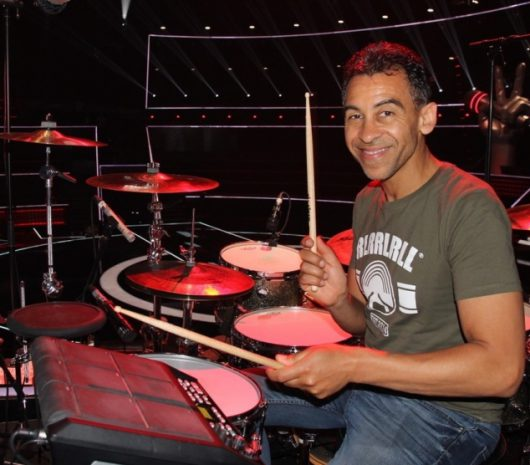 Jean Philippe Fanfant playing cymbals