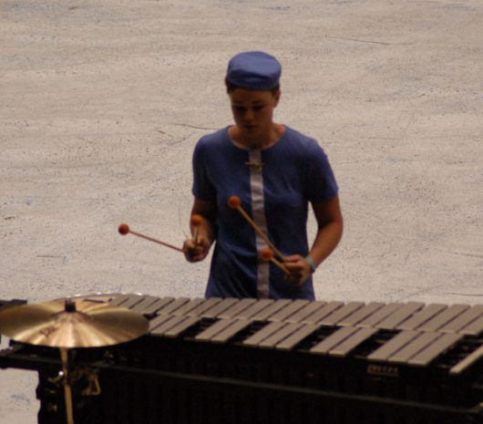 Father Ryan HS playing cymbals