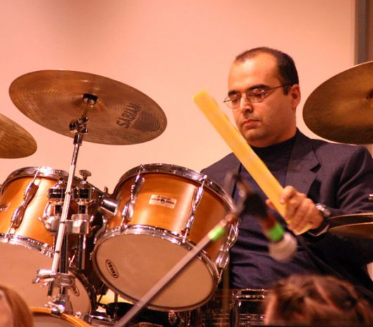 German Siman playing cymbals