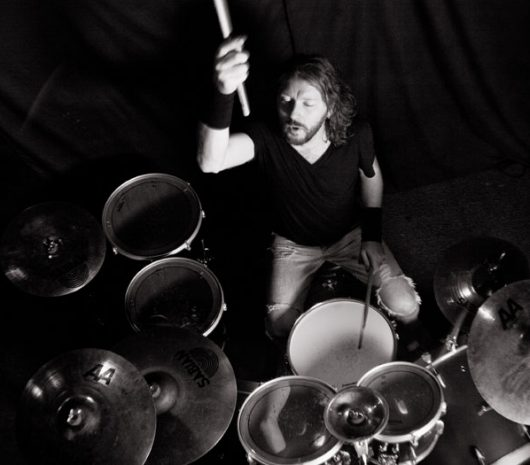 "Glen ""Archie"" Gamble playing cymbals"