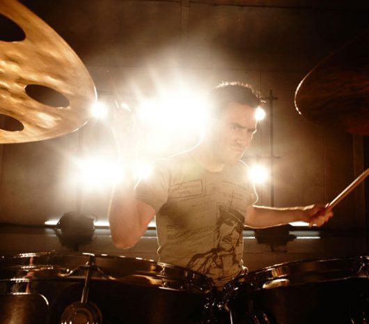 Glen Power playing cymbals