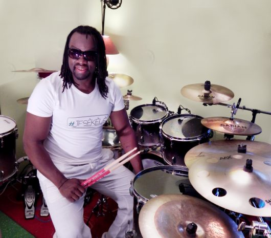 Guy Nwogang playing cymbals